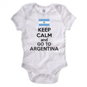 KEEP CALM AND GO TO ARGENTINA - Argentinian / Southeastern America Themed Baby Grow / Suit