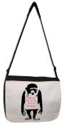 Banksy Laugh Now Monkey Messenger Bag