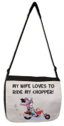 My Wife Loves To Ride My Chopper Messenger Bag