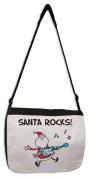 Santa Rocks! Funny Christmas Messenger Bag