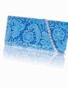 Zarla Ladies Designer Clutch Bag Satin Lace Floral Women Evening Party Prom Bridal New