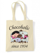 Chocaholic Since 1934 Woman's 80th Birthday Tote Shoulder Bag