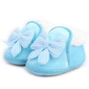 Femizee Newborn Baby Girls Toddlers Winter Bow Dot Warm First Walking Shoes