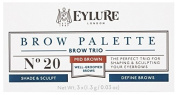 Eylure Brow Palette - Brow Sculpting and Shaping Trio (Mid Brown) 3x