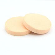 2 PCS 9cm Circular Face Powder Puff Cosmetic Makeup Foundation Fleshtone