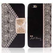 Ukamshop(TM)Black Fresh Cute Flip Wallet Leather Case Cover for iPhone 6 12cm