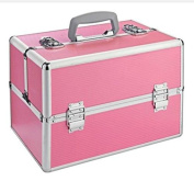 Large Aluminium Vanity Case With Beautiful Pink Colour Give Stylish Look