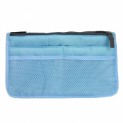Greenery Multi-function Handbag Pouch Bag in Bag Organiser Insert Organiser Tidy Cosmetic Bag Pocket Toiletry Bag Make-up Beauty Bag Travel Bag for keeping your mobile, keys, purse, make-up and other essential items organised