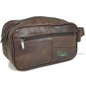 LORENZ - Miami Large Leather Wash Bag Toiletry Case