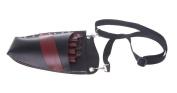 Kobwa(TM) Black and Red PU Leather Bag Scissor Hairdressing Holster Pouch Holder Waist Bag with Shoulder Belt with Kobwa's Keyring