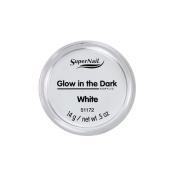 SuperNail Acrylic Powder - Glow in the Dark - White - 14g