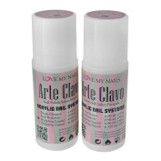 ARTE CLAVO 60ml Nail Art Professional Acrylic Liquid 2 Bottles
