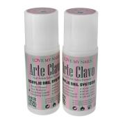 ARTE CLAVO 60ml Nail Art Professional Acrylic Liquid 2 Bottles
