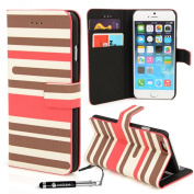 Apple iPhone 6 - Various Designs Premium Quality Leather / Hardcase / Gel / Silicone / Durable / Transparent / Clear / Wallet / Credit Card Holder Flip Case Bumper Stand Cover includes a Stylus Touch pen