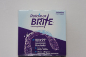 Retainer Brite Cleaning tablets, for removable appliances including clear retainers, clear aligners, mouthguards, nightguards, TMJ appliances & wire retainers. 36 tablets.