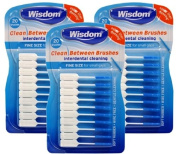 3x Wisdom Clean Between Interdental Brushes - Pack of 20 - Size Fine