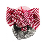 Stripes And Net Hair Snood