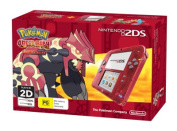 Nintendo 2DS Console Transparent Red with Pokemon Omega Ruby
