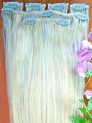 Forever Young White Blonde #60 Clip In Human Hair Extension Half Head Set - 41cm Long