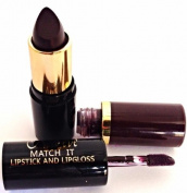 New Eve Trendy 2 in1 Match it DARK CHOCOLATE Lipstick and Lip Gloss 15ml Cosmetic Duo Makeup