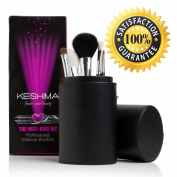 Make Up Brushes by KESHIMA? - Get the Top 5 MUST-HAVE Make Up Brushes - Angled Blush Brush, Eyeliner Brush, Powder Brush, Eye Shadow Brush, Blending Brush + FREE Premium Make Up Brush Holder - Makes a Beautiful Gift Set.