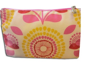 CLINIQUE PINK/WHITE MAKE UP/COSMETIC BAG