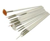 Accmart(TM) 15Pcs Cosmetic Make up Nail Art Painting Draw Pen Brush Tool Set White