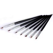 Davidsonne 7pcs Black Nail Art Design Polish Painting Brush Pen Set for UV Gel Builder DIY