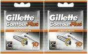 Gillette Contour Plus Cartridges - 20 Pack