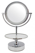Danielle Creations Lighted Chrome Mirror Vanity With Jewellery Stand x 10 mag