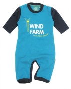 Little Green Radicals organic Fairtrade cotton Wind Farm Playsuit
