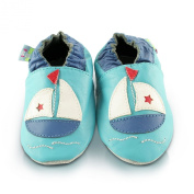 Snuggle Feet Boat Soft Leather Baby Shoes | 12-18 months