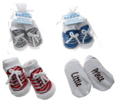 Set of 4 Adorable Baby Boy's Soft Touch Socks - 0 to 6 Months - Sneaker Design