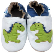 MiniFeet Soft Leather Baby Shoes, Dinosaur
