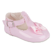 BABY GIRLS RED BLACK PINK IVORY PATENT PRAM CHRISTENING SHOES SIZES 0 TO 4 UK