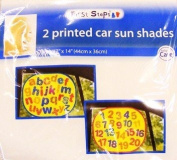 Kids ABC/123 Sun Car Window Shades / Blinds Sunshades - 2 Pack