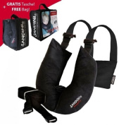 SANDINI SleepFix© S Children Safety pillow (car/bicycle) Complete set basic black- incl. FREE BAG