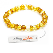 Amber Bracelet - sizes from18 to 23 cm - 100% Genuine Baltic Amber Beads - Adult Men Women - Authentic Curative Adornment - Packed in Organza Gift Bag - HNY.P18-23