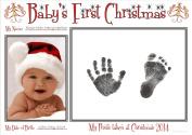 BabyRice New Baby's First Christmas Handprint & Footprint Kit / Boy Girl Unisex Babys Prints on 1st Xmas