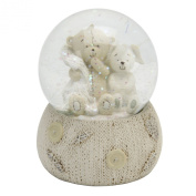 Button Corner Teddy Resin Snow Globe in Gift Box