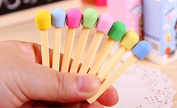 Homgaty 8Pcs Novelty Cute Matches Style Eraser Rubber Stationery Kid Gift