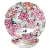 Miranda Kerr For Royal Albert Brand New For 2014 - 3 Piece Set (Teacup, Saucer and Plate) Gratitude - Beautifully Boxed