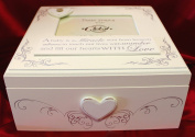 Shabby Chic Baby Memories Keepsake Box with Photo holder