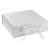 BabywearUK Keepsake Box - White box with bow