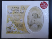 Memory Mounts Memorial In Loving Memory Of Our Little Angel Mount And Poem For A Photo Frame 25cm x 20cm
