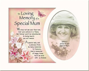 Memory Mounts Memorial In Loving Memory Of A Special Mum Mount And Poem For A Photo Frame 25cm x 20cm