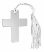 Silver cross bookmark. Made in England. Perfect gift to celebrate a Christening, Baptism or Confirmation.