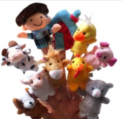 Homgaty 10 Pcs Old Macdonald Had a Farm Animals Finger Puppets Story Telling Nursery Fairy Tale The Perfect Birthday, Christmas Gift
