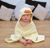 Bathing Bunnies Duck Baby Hooded Towel Light Yellow