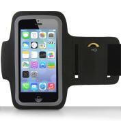 AFUNTA Sporty Armband Case + Key Holder for Apple iPhone 5/5S/5C, 4/4S, iPod Touch 5 Protective Gym Running Jogging